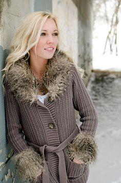 Winter fashion photography