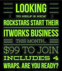 Join today! This is a great opportunity! Message me! http://jmcmanis.myitworks.com