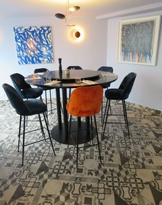 "20x20cm (8""x8"") @marcacorona #Cement #Tiles Terra collection @CaféDadBrasserie in Paris (France)"