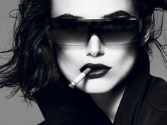 Amazing shot from smoking woman