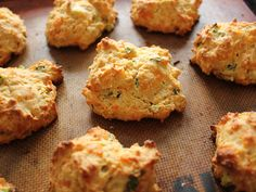 Home Skillet - Cooking Blog: Scallion and Cheddar Drop Biscuits