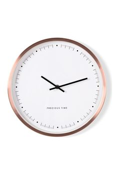 Aurelia Wall Clock, in Copper. A simple metallic accent. £29. MADE.COM