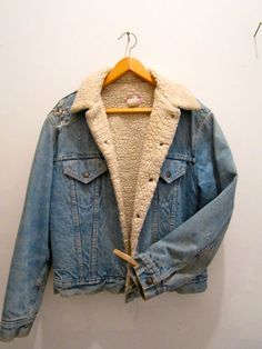 Vintage shearling lined Levi's jacket… found one of these in my mom's closet, now it is mine :)