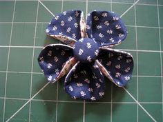 "Very pretty ""double"" fabric flower."