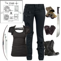 Female gladiator- the maze runner by gone-girl on Polyvore featuring James Perse, Logan Neitzel, AllSaints and D&G