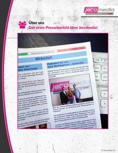 Jippie, der erste #Presseartikel über uns:http://www.jeromedia.eu/images/za_jeromedia.pdf   Wir freuen uns wirklich sehr! :) #presse #pr #pressebericht #werbeagentur #jeromedia #business #behindthescenes