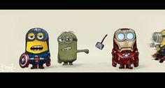 #Minions #Avengers mashup