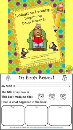 This packet contains book reports designed for beginning readers. $