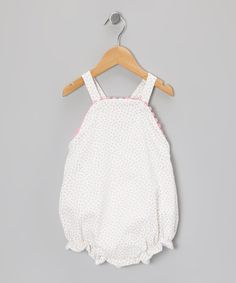 Take a look at this White & Pink Floral Piqué Bubble Romper - Infant by Peppermint Pony on #zulily today!