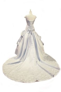 Pale Blue Wedding Dress Cinderella Chic - Angela Style - Avail & Company, LLC detachable straps with lace. Corset on the back. Perfect for an indoor wedding. Pastel Wedding Dresses, Light Blue Wedding Dress, Blush Pink Wedding Dress, Blush Pink Weddings, Country Wedding Dresses, Perfect Wedding Dress, Wedding Looks, Designer Wedding Dresses, Wedding Dress Cinderella