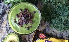 Mint Chocolate Chip Superfood Shake | St. Patrick's Day Recipe