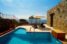 2 Bedrooms, 2 Bathrooms, Near to Famous Beach, Panoramic Sea View, 2 Private Pools Artemis Villa to Rent in Elafonisi, Chania Crete. Villa Artemis is situated on the peak of a hillside overlooking the Mediterranean Sea. It looks like a castle