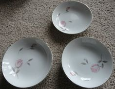 7 Argent Rose Small Bowls Gambles Import Corp Japan Vintage China