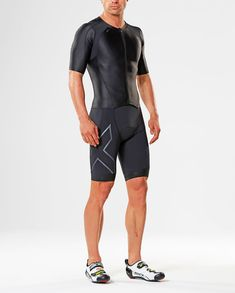cfdab7c2b8 2XU Compression Zip Sleeved Trisuit - Triathlon Clothing - Ribble Cycles  Compression Clothing, Compression Shorts