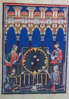 """Tables-game of the Four Seasons. Four men playing at """"the World"""" 4-player Backgammon"""