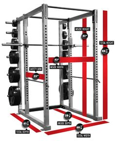 Power Rack With Barbells Measurements More