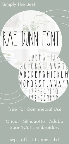 The Best Rae Dunn Font - This is the top selling Rae Dunn font on Etsy! Free for commercial use and comes in SVG format, perfect for your Cricut projects!