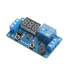5PCS DC 12V LED Display Digital Delay Timer Control Switch Module PLC Automation