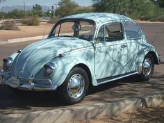 "Learned how to drive manual transmission (at least the shifting the stick part) on an old powder blue VW named ""Tiger."""