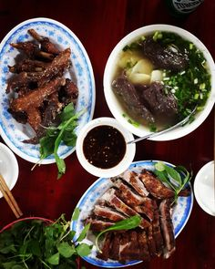 grilled musk duck, blood tofu soup with bamboo #vietnam #hanoi #vietnamese #food