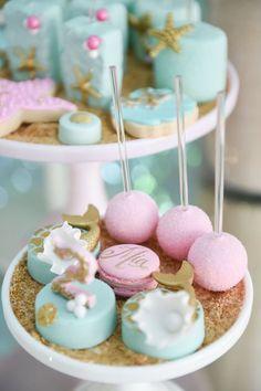 Sweets from a Mermaid Oasis Themed Birthday Party via Kara's Party Ideas | KarasPartyIdeas.com (26)