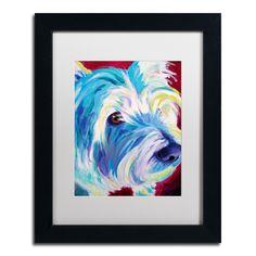 <ul><li>Artist: DawgArt </li><li>Title: Westie</li><li>Product Type: White Matte, Black Frame, Giclee Print Under Acrylic in a Wooden Frame</li></ul>