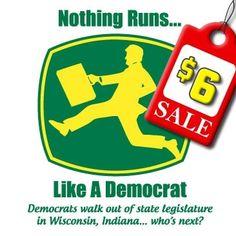 Nothing Runs Democrat Walk Out T-Shirt