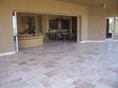 Versailles Patio Tile layout Foyer Flooring, Outdoor Flooring, Kitchen Flooring, Flooring Ideas, Travertine Floors, Wood Tile Floors, Stone Flooring, Tile Layout Patterns, Floor Patterns
