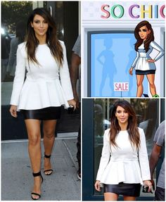 Looks From My New Game – Kim Kardashian: Official website Kim Kardashian Hollywood Game, Kardashian Photos, Khloe Kardashian, Kim K Style, Fashion Show, Fashion Dresses, White Dress, Chic, Celebrities