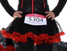 Tough Girl Running Tutu - black and red   Want it.
