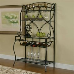 Cramco 72688-85 Starling Baker's Rack - Home Furniture Showroom  $350 6 bottles