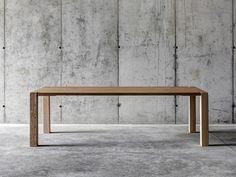 Tavolo alto rettangolare in legno WF1 by FIORONI | design Fioroni crs