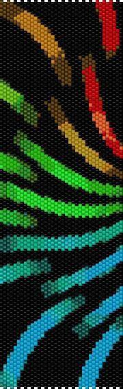 BPRB0014 Rainbow 14 Even Count Single Drop Peyote Cuff/Bracelet Pattern