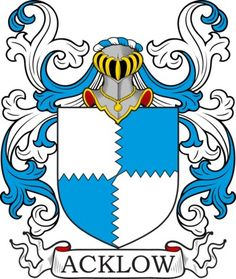 Acklow Family Crest and Coat of Arms