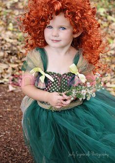 Merida Inspired Princess Crochet Couture Tutu Dress - Halloween Costume-Disney Pixar Brave Inspired. $49.99, via Etsy.