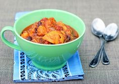 Vegetarian sweet potato chili: healthy comfort food for a cold night!  (I'd sub dry black beans for canned and make in the instant pot - cook for 40 mins total adding zucchini and sweet potato around the 30min mark)