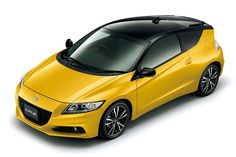 Honda CR-Z looks sweet with the roof and hatch painted black!