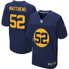 Mens Nike Green Bay Packers  52 Clay Matthews Elite Navy Blue Alternate NFL  Jersey sale f5fb940cc