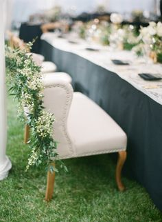 For the sweethearts: http://www.stylemepretty.com/2015/05/26/black-white-gold-outdoor-glam-wedding/   Photography: Diana McGregor - http://www.dianamcgregor.com/