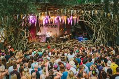 Secret Garden Party, Cambridgeshire proving that a stage can be both functional and beautiful!