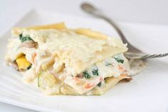 Vegetable Lasagna with White Sauce - IC Friendly Dinner