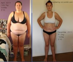 Unabashed truthful sharing.  How brave and wonderful.  I hope this woman loves herself, before and after.