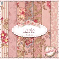 """Lario  7 FQ Blush Set by 3 Sisters for Moda Fabrics: Lario by 3 Sisters for Moda Fabrics.  100% cotton.  This set contains 7 fat quarters, each measuring approximately 18"""" x 21""""."""