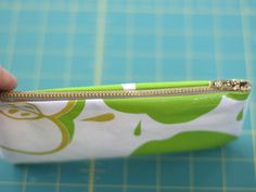 Oilcloth PENCIL CASE tutorial. Very smart idea, it will last longer!. Very detailed images too.