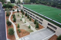 Soccer field and parking facility at Pompano College