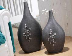 jarrones decorativos color negro