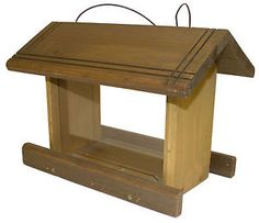 Large Hanging Wooden Bird Seed Feeder Hopper Table - Very Pretty Good Quality
