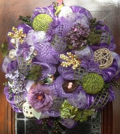 Lavender Spring/Easter Wreath by HertasWreaths on Etsy, $145.00