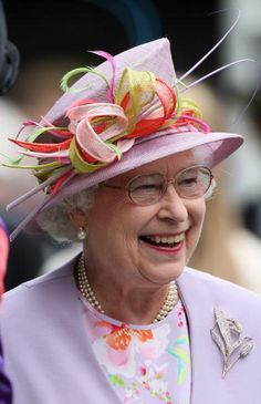 Diagonal Crown Hats of Angela Kelly. Queen Elizabeth.