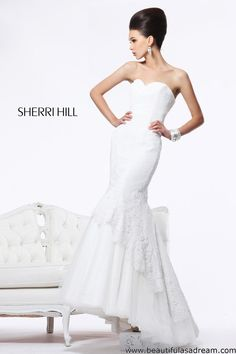Sherri Hill 21115 Pageant gown, wedding gown, red carpet event... This white gown is gorgeous and could work for any event!!!